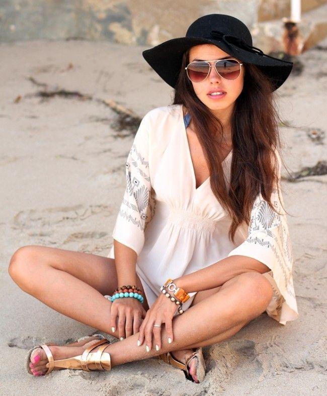 Looks para usar na praia  moda fresquinha para seus dias quentes ... 067f25c48d5
