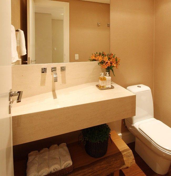 decoracao de apartamentos pequenos banheiros : decoracao de apartamentos pequenos banheiros:Banheiro de um apartamento de 60 metros quadrados. Projeto de Tais