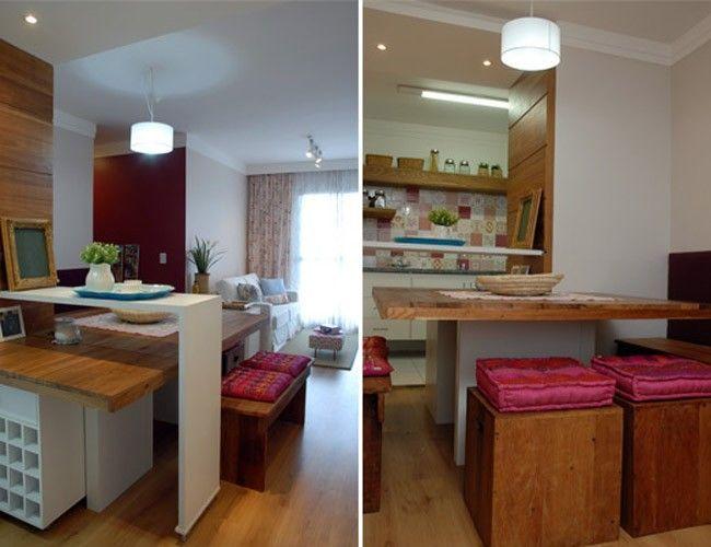 decoracao de sala em apartamento pequeno : decoracao de sala em apartamento pequeno:sala de jantar e sala de estar em um apartamento pequeno. Projeto de