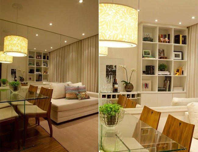 Decoração de um apartamento de 50 metros quadrados Projeto de