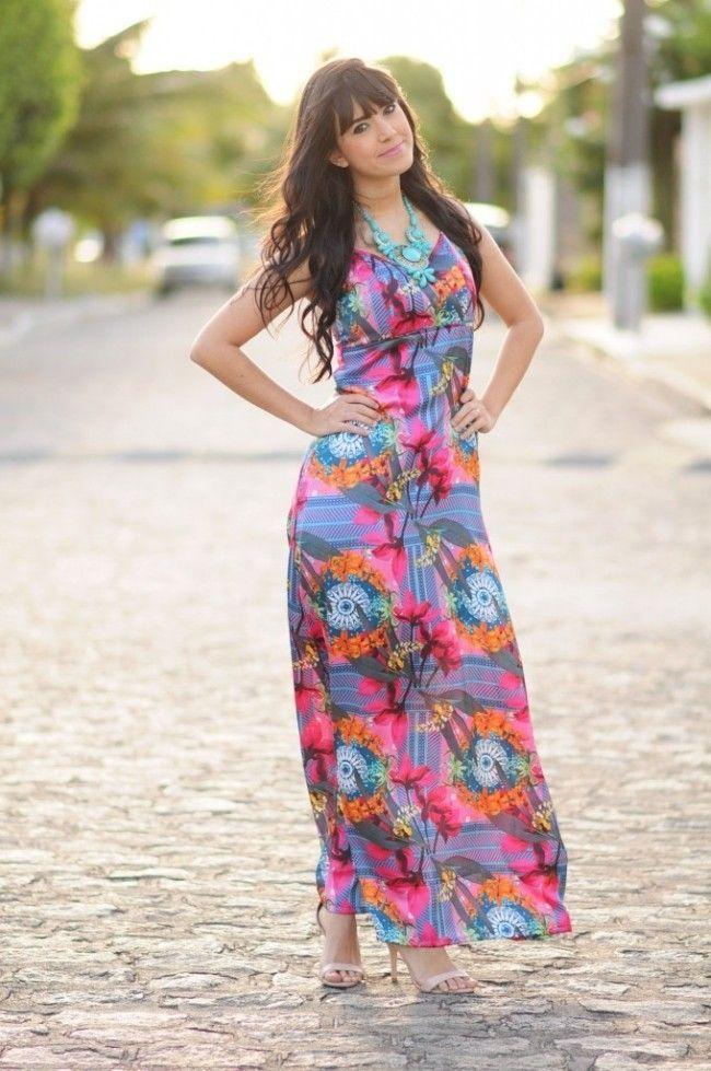 Que sapato usar com vestido longo floral