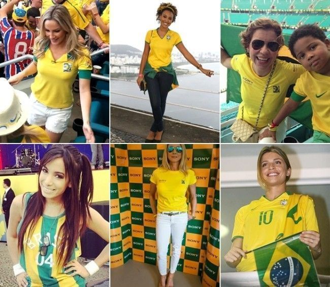 famosas torcida brasil Looks para a Copa do Mundo: como se vestir para torcer pelo Brasil
