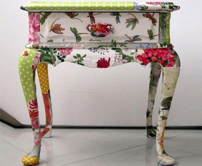 Decoupage aprenda como aplicar esta t cnica artesanal dicas de mulher - Restaurar muebles con papel ...