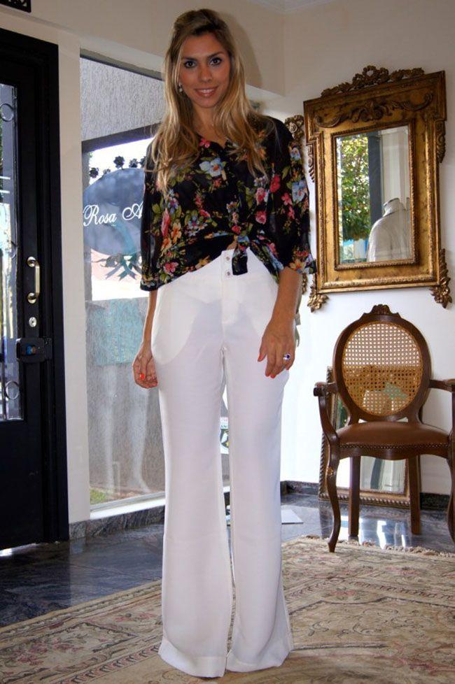 Como usar calça branca para criar looks casuais e elegantes - Dicas ...