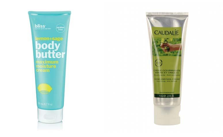 Lemon+Sage Body Butter da Bliss por R$99,82 na Perfume Emporium | Creme Gourmande da Caudalie por R$79 na Sephora