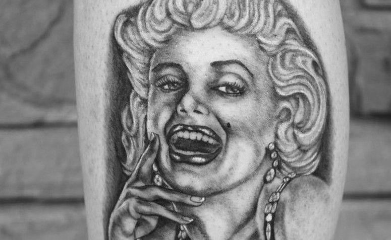 Tatuagem retrato da Marilyn Monroe. Foto: Reprodução