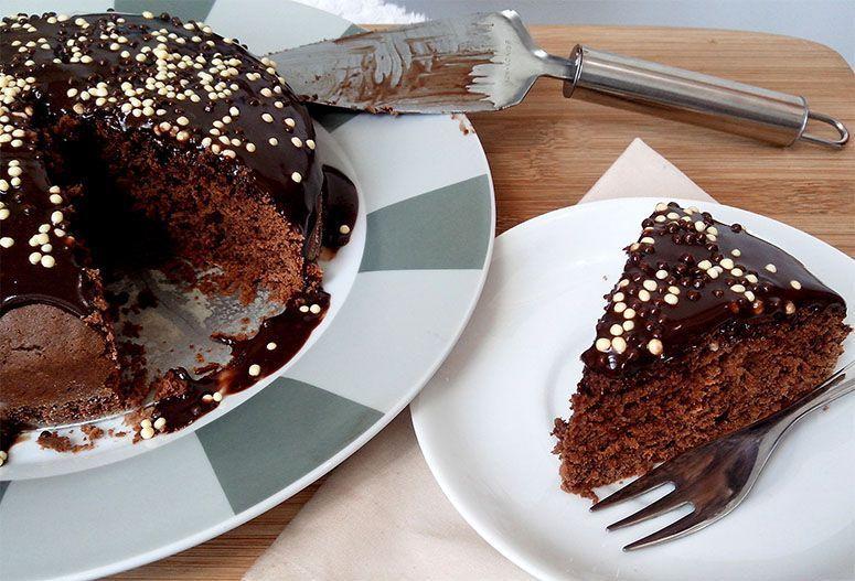 Bolo de Nutella. Foto: Reprodução / Cozinhando para 2 ou 1