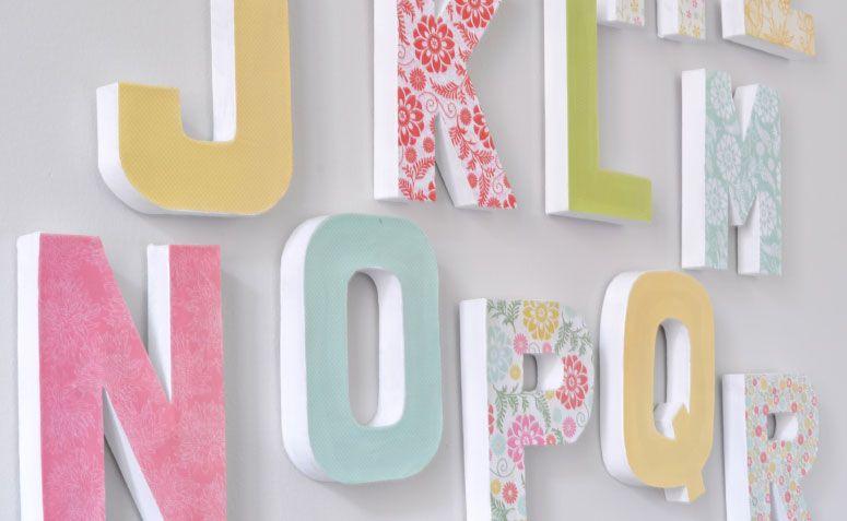 Moldes de letras como fazer letras decorativas passo a passo - Como hacer letras decorativas ...