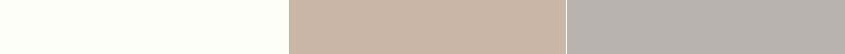 Da esquerda para a direita: Sherwin-Williams Ibis White (SW 7000); Sand Dune (SW 6086); Sensible Hue (SW 6198) | Imagem: Dicas de Mulher