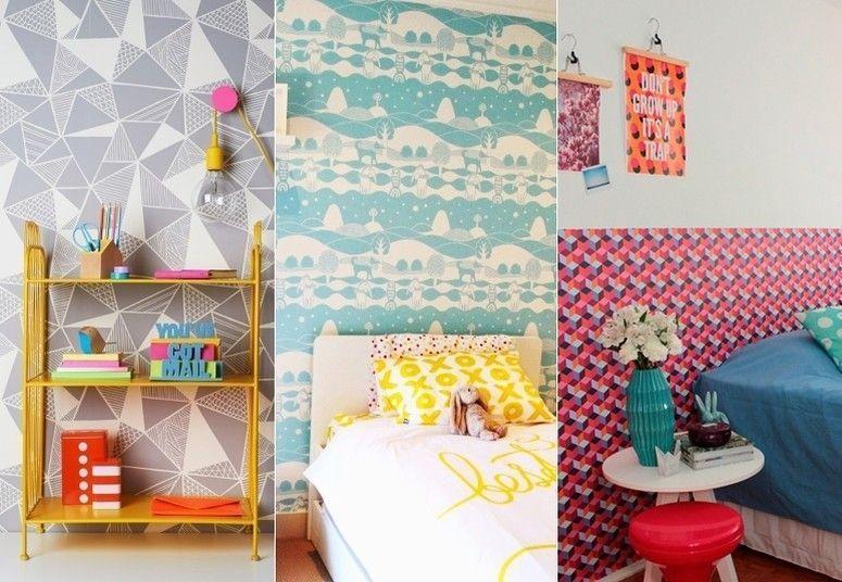 Decora o para quarto infantil ideias fofas e divertidas - Papel paredes ikea ...