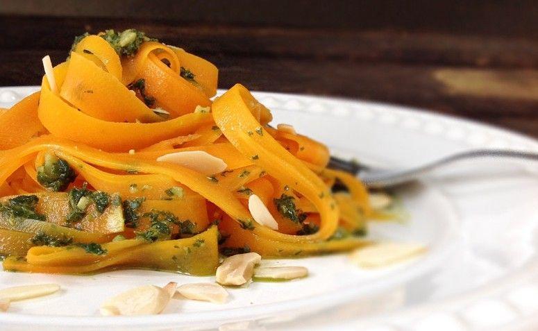 Fettucini de cenoura. Foto: Reprodução / Blog Cozinha da Nise