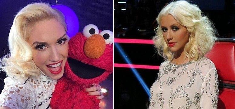 Foto: Reprodução / Instagram: Gwen Stefani   Christina Aguilera