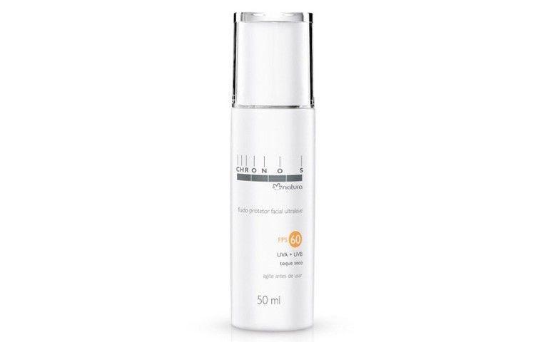 Chronos Fluido Protetor Solar Facial Ultraleve Tonalizante FPS 60 por R$ 59,50 na Natura