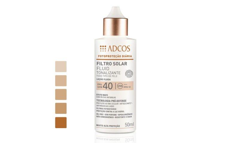 Filtro Solar FPS 40 Fluid Tonalizante por R$ 87,00 na  Adcos