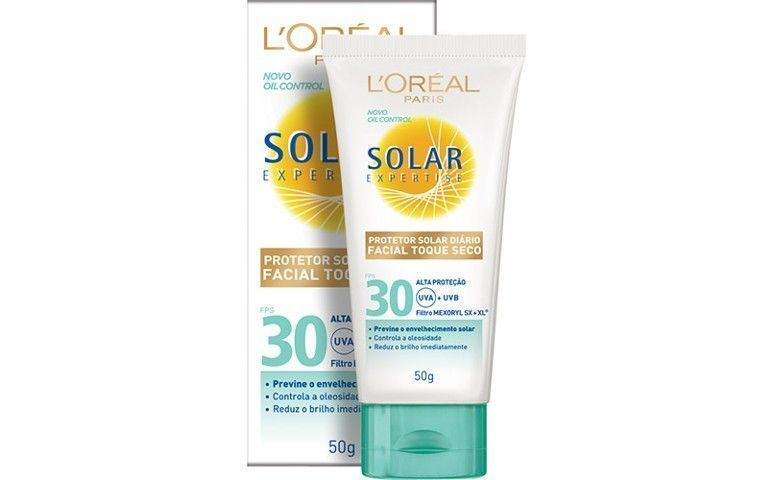 Protetor Facial Solar Expertise Toque Seco FPS 30, da L'Oreal, por R$ 37,90 na Época Cosméticos
