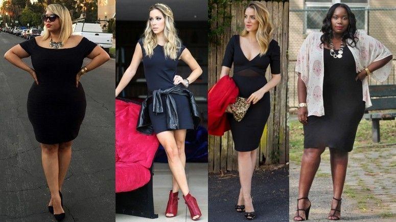 Vestido preto combina com sandalia vermelha