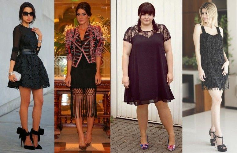 Vestido preto curto combina com qual sandalia