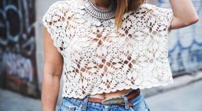 Blusa de crochê: valorize seu look com um toque artesanal