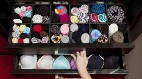 Ideias práticas e criativas para organizar as roupas íntimas