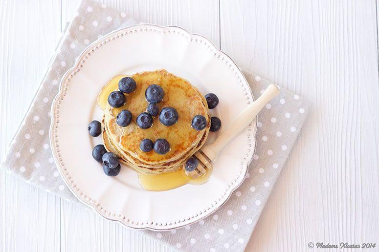 Panquecas de aveia sem lactose. Foto: Reprodução / Madame Xícaras