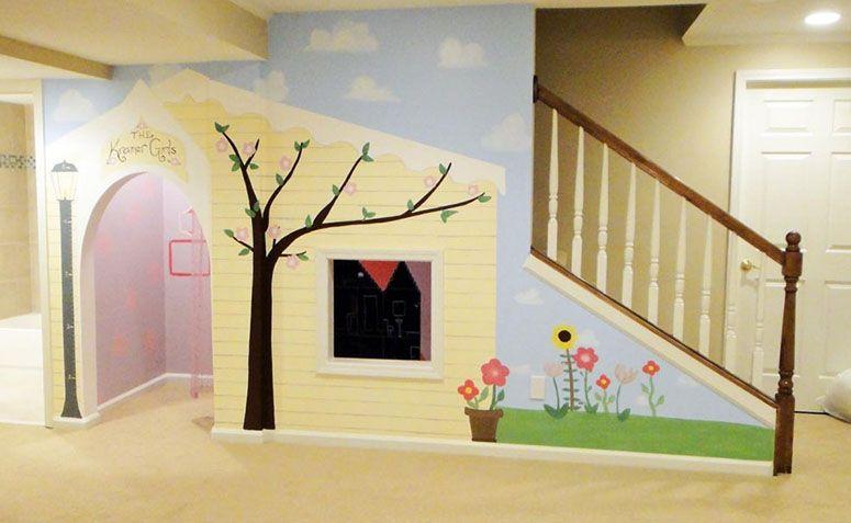 ideias de jardim embaixo da escada – Doitricom -> Banheiro Pequeno Embaixo De Escada