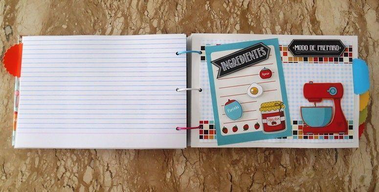 Scrapbook livro de receitas por R$100 no Elo7