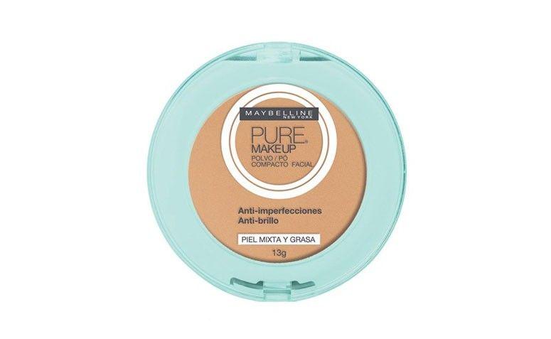 Pó compacto Pure Makeup, da Maybelline por R$35,91 na Época Cosméticos
