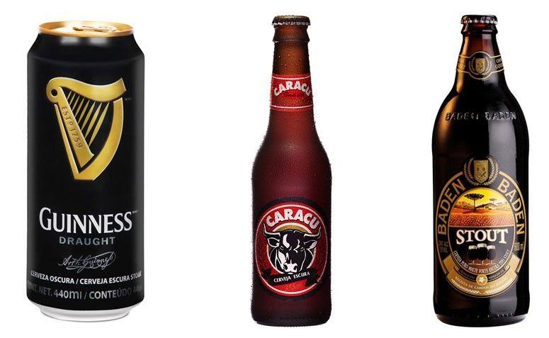 Sugestões: Guinness, Caracu e Baden Baden Stout