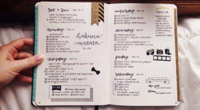 Conheça o bullet journal, uma ferramenta útil e fofa para a organização do seu dia