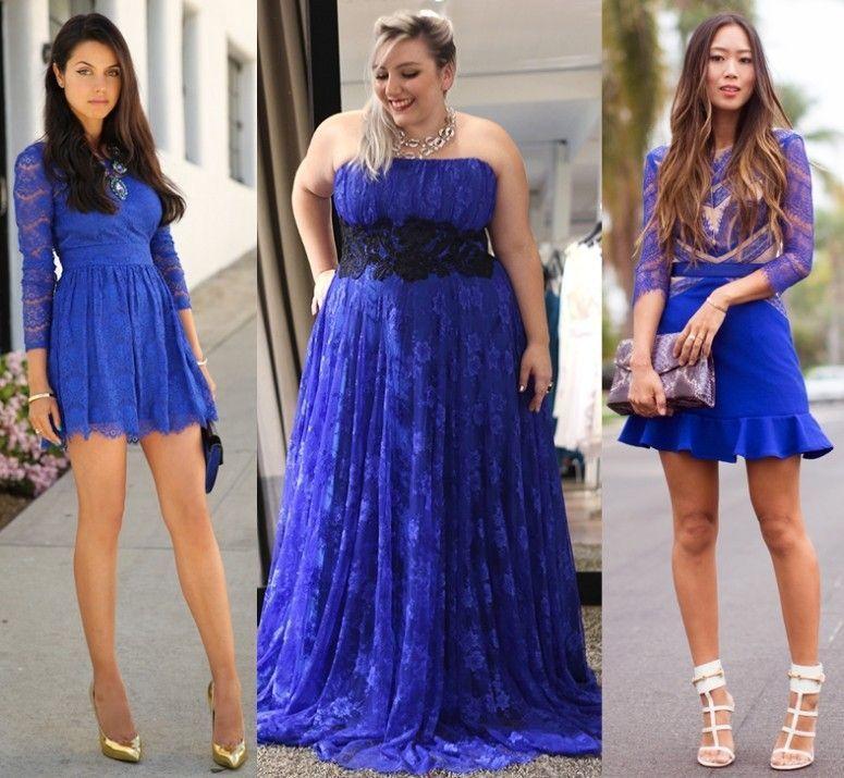 Acessorios que combinam com vestido azul bic
