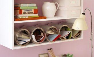 20 ideias criativas para organizar objetos e deixar a casa em ordem