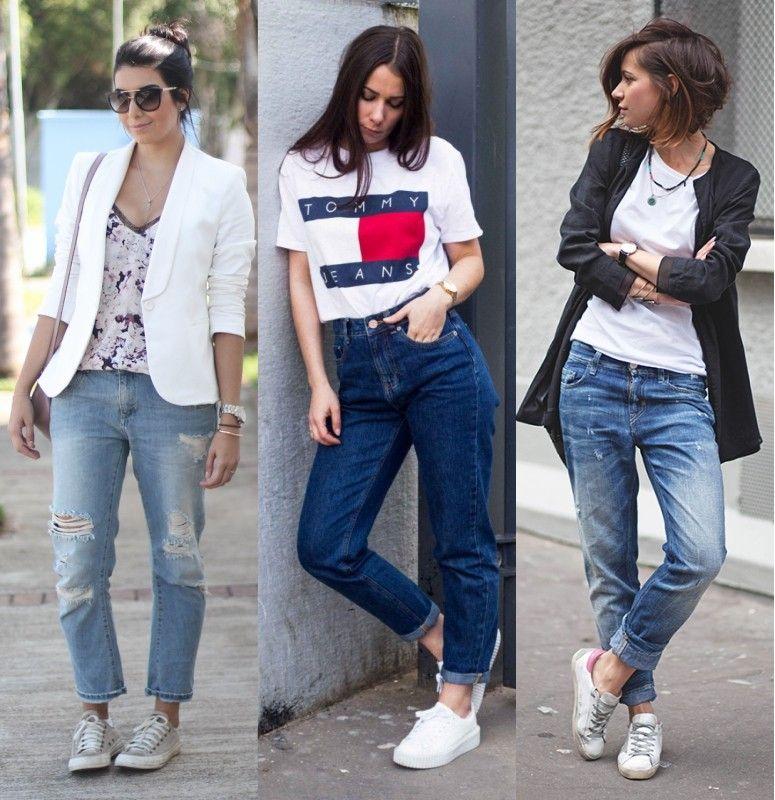 Look Jeans Boyfriend + tenis