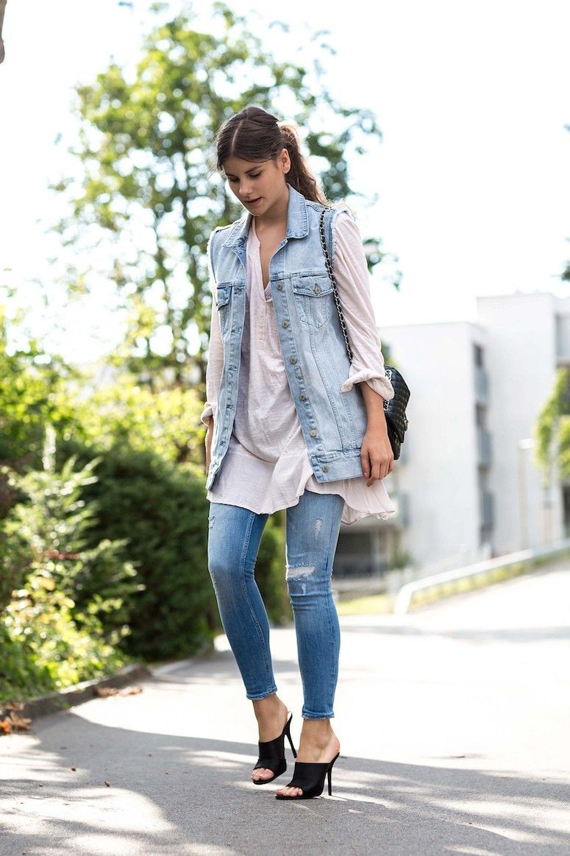 902a5f2f0 Colete jeans como compor looks versu00e1teis e cheios de estilo com a  peu00e7a
