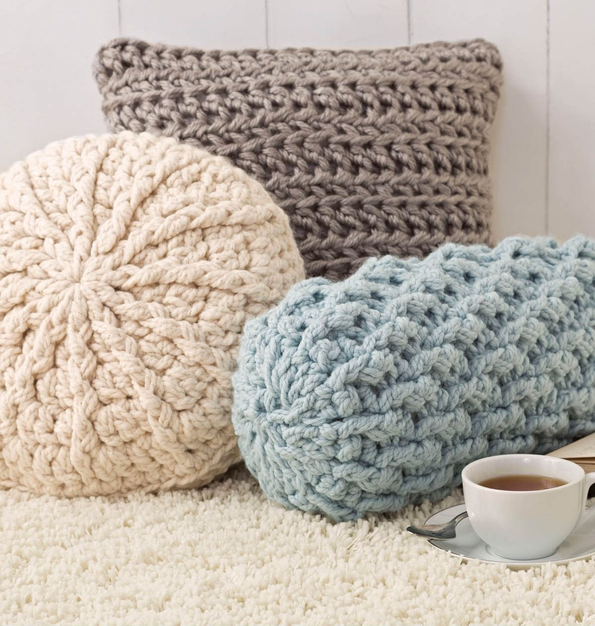 8f0cbe32c70f46 Almofadas de crochê: 20 modelos com passo a passo (completo)