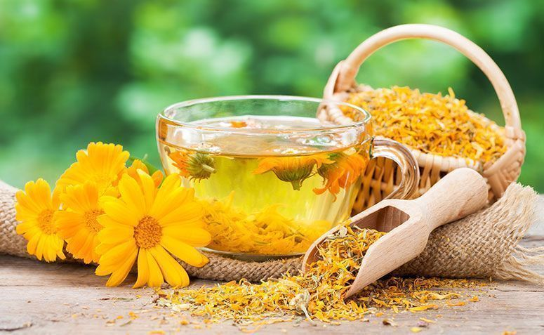 Image result for chamomile flowers and St. John's wort