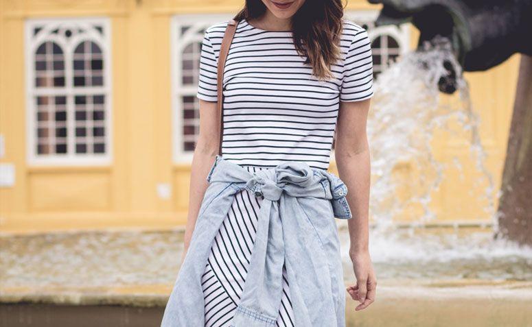 Vestidos listrados na moda