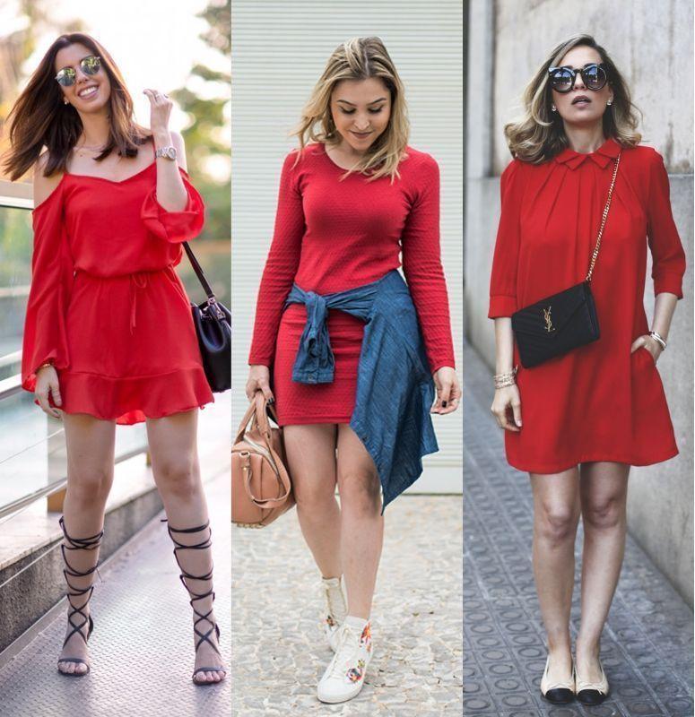 1d5413400 Vestido vermelho  como criar looks elegantes e modernos com essa cor ...