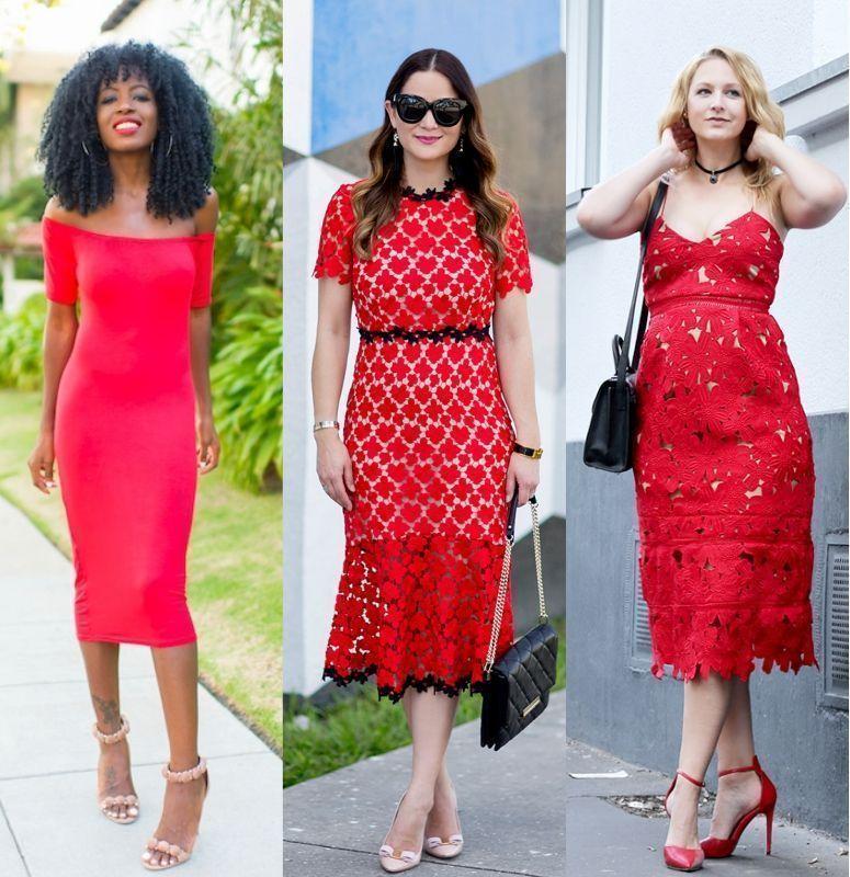 f3a3c104ef Vestido vermelho  como criar looks elegantes e modernos com essa cor ...