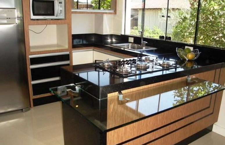 7 tipos de granitos que s o ideais para cozinha beleza e for Tipos de granito negro
