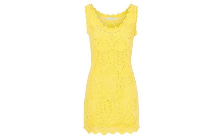 Vestido amarelo e dourado ou azul e preto
