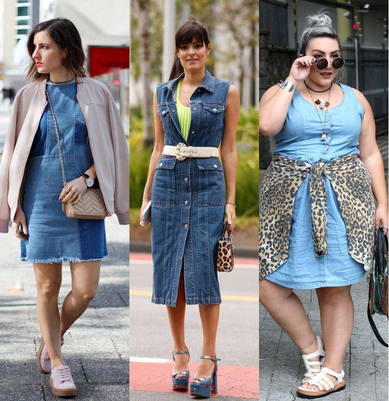 Como combinar vestido con jeans