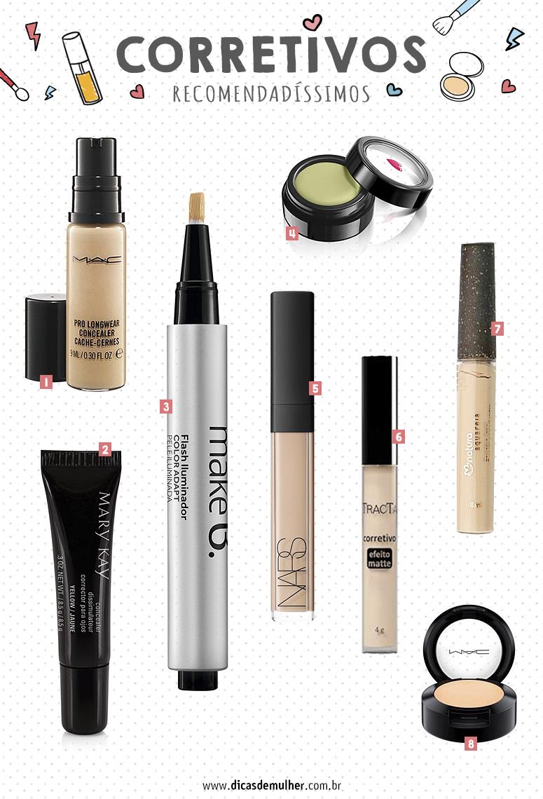 Corretivos recomendados pelas blogueiras de beleza