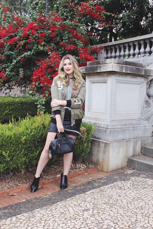 390906802 Jaqueta bomber: como adicionar esta peça nos seus looks - Carol ...