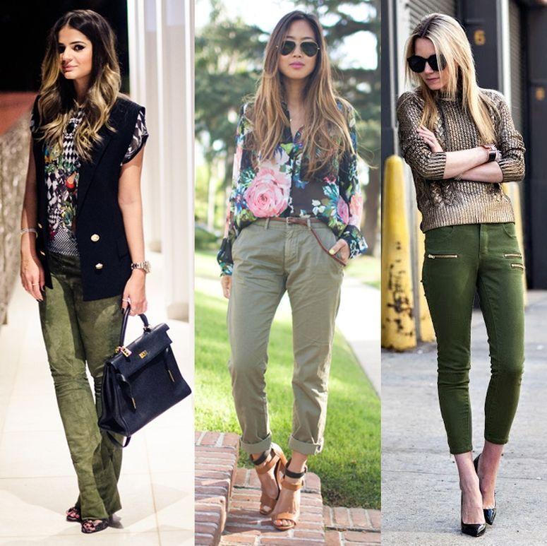 Vestido verde militar c&a