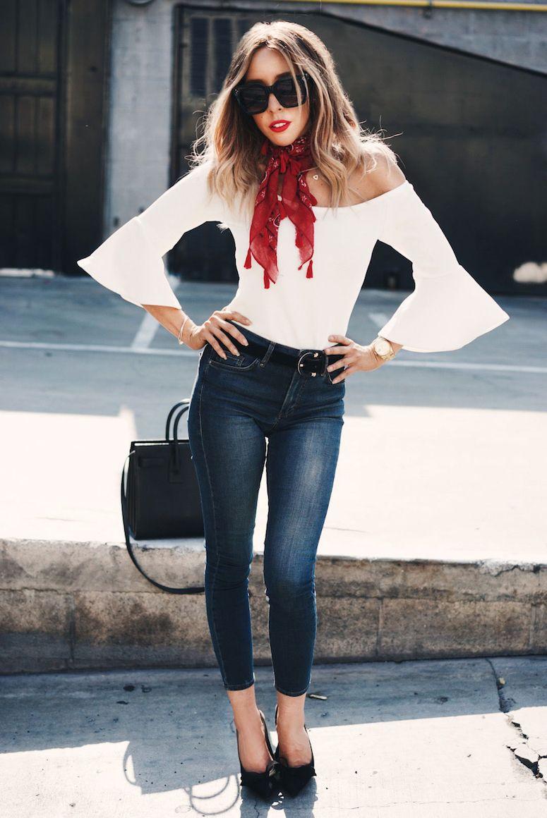 Vestido jeans manga boca de sino