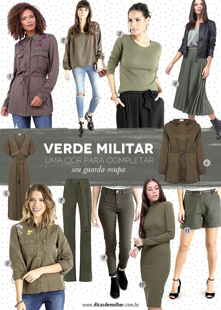 637241b79 Verde militar  aprenda a valorizar seus looks com essa cor atemporal