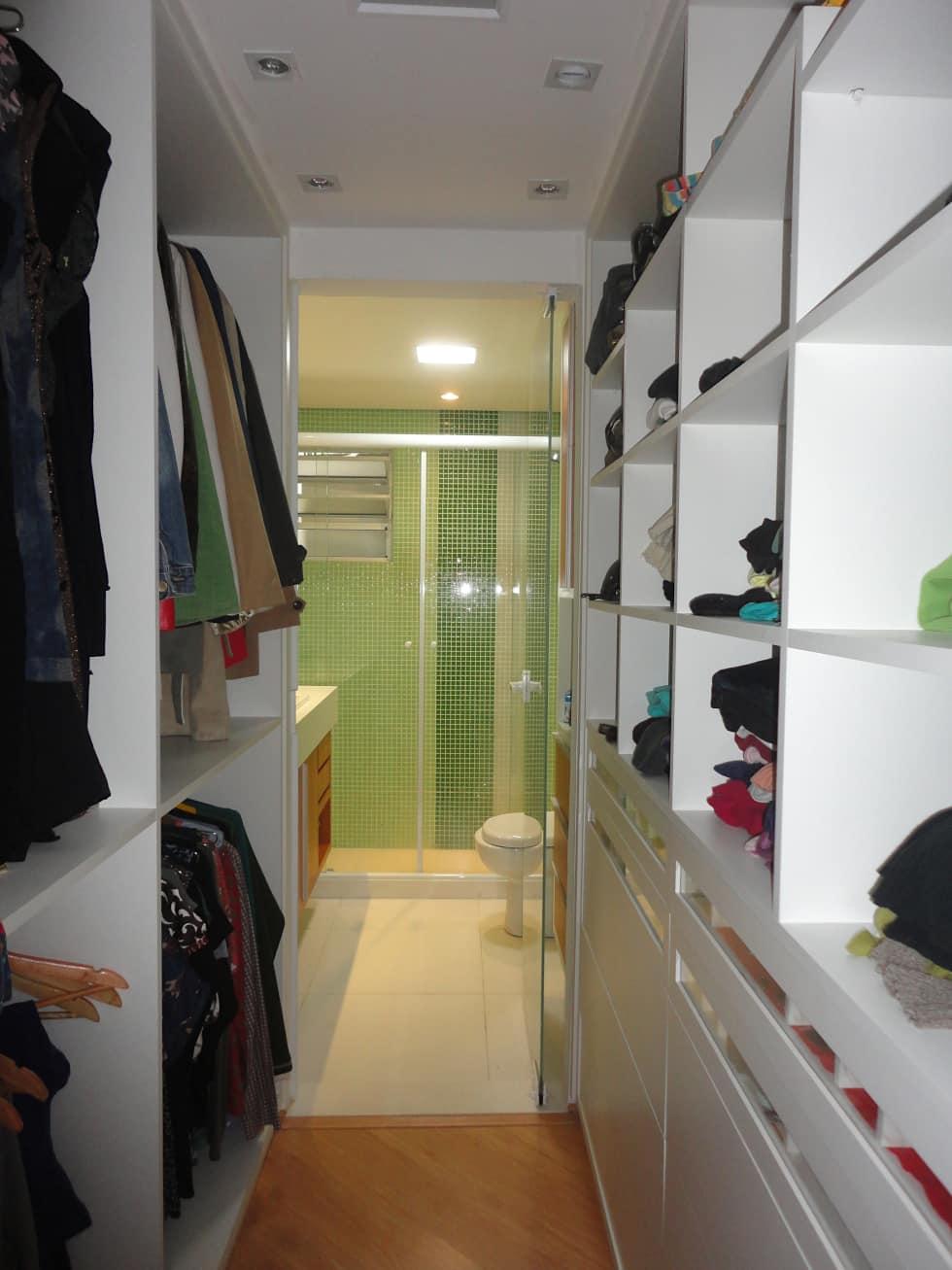 Extremamente Closet com banheiro: 50 inspirações para adotar essa integração RK19