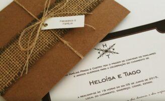 Como fazer um convite de casamento rústico em casa
