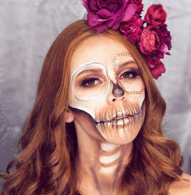 Maquiagem de caveira mexicana  32 inspirações e tutoriais incríveis f9d03d610c