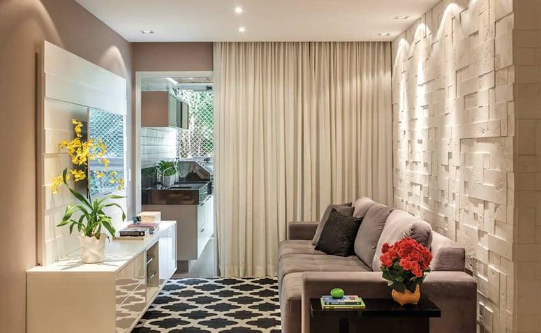 Salas pequenas 70 inspira es muito estilosas para a sua for Salas modernas pequenas para apartamentos